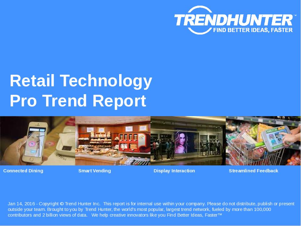 Retail Technology Trend Report Research