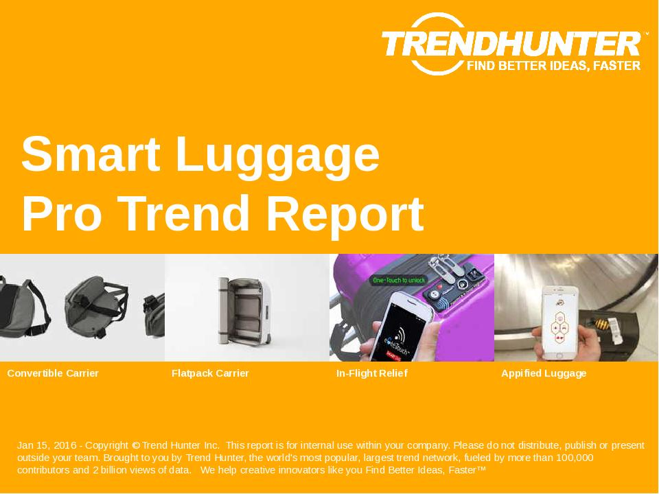 Smart Luggage Trend Report Research