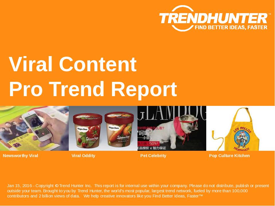 Viral Content Trend Report Research