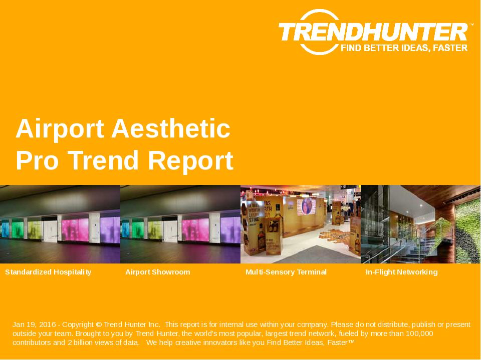 Airport Aesthetic Trend Report Research
