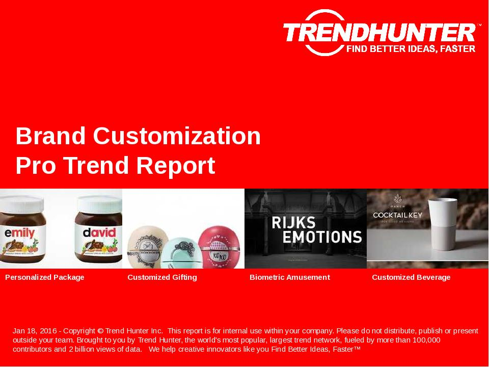 Brand Customization Trend Report Research