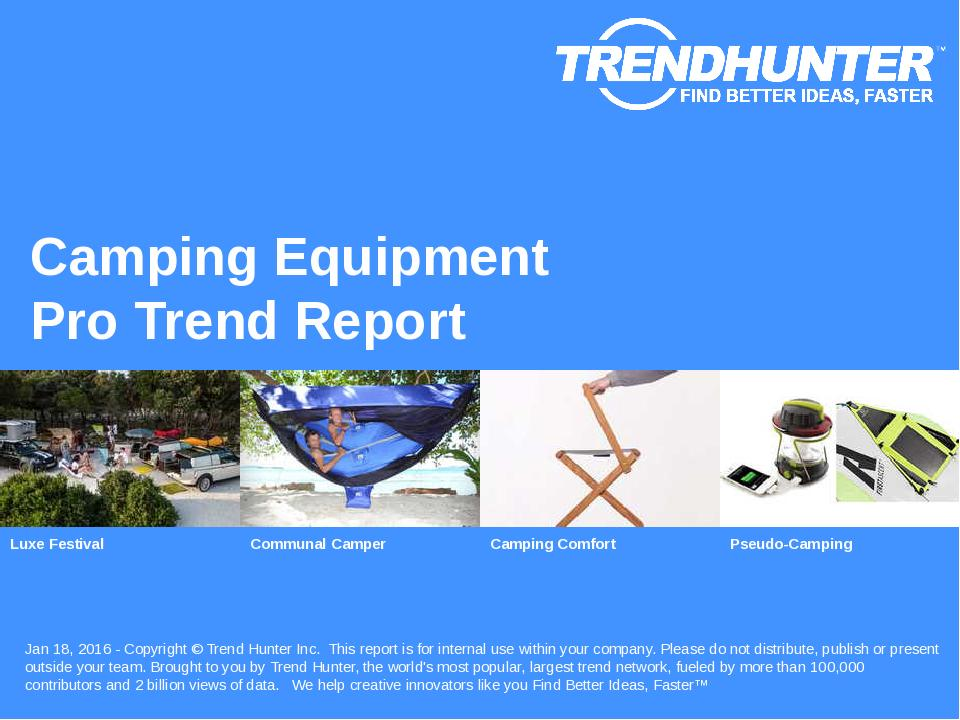 Camping Equipment Trend Report Research