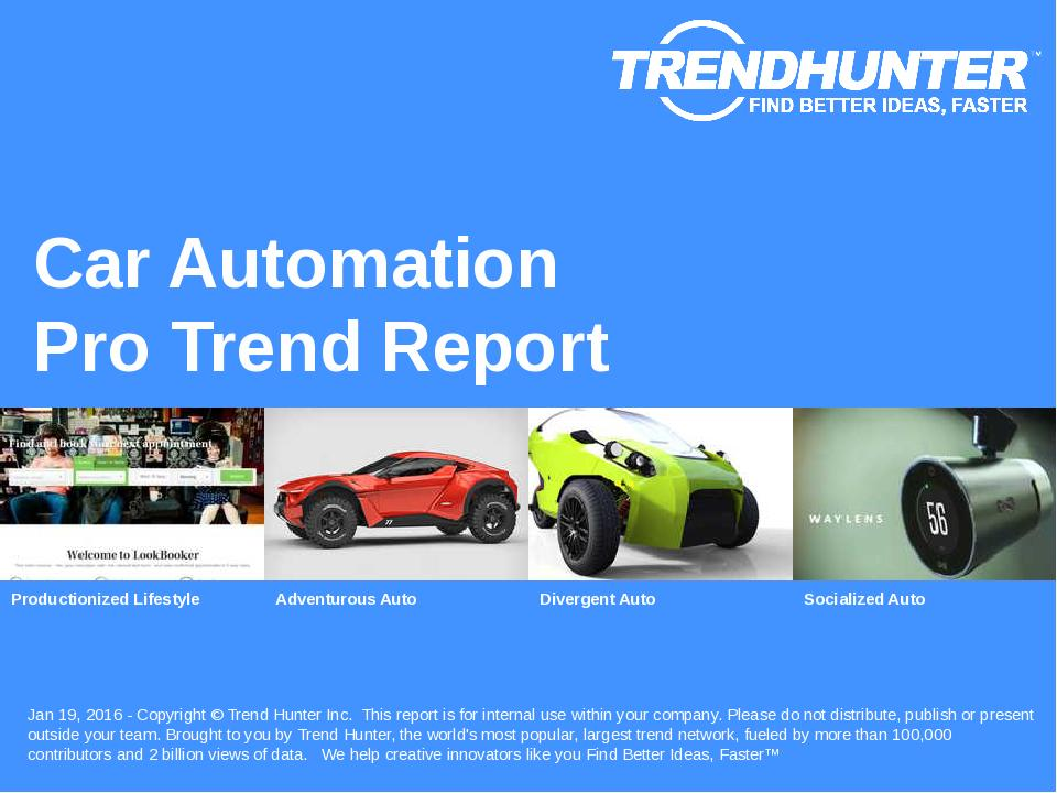 Car Automation Trend Report Research