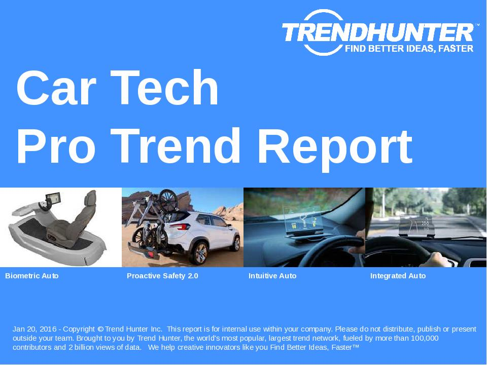 Car Tech Trend Report Research