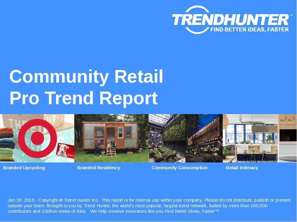 Community Retail Trend Report Research