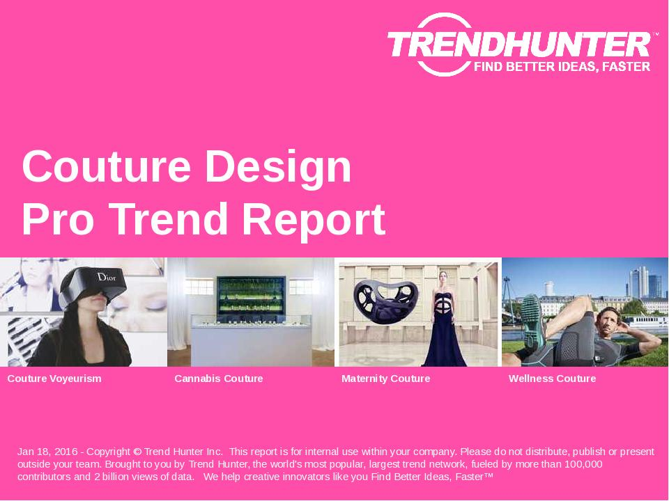 Couture Design Trend Report Research