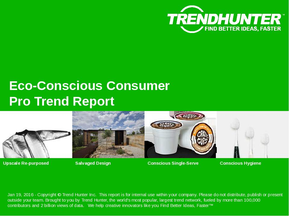 Eco-Conscious Consumer Trend Report Research