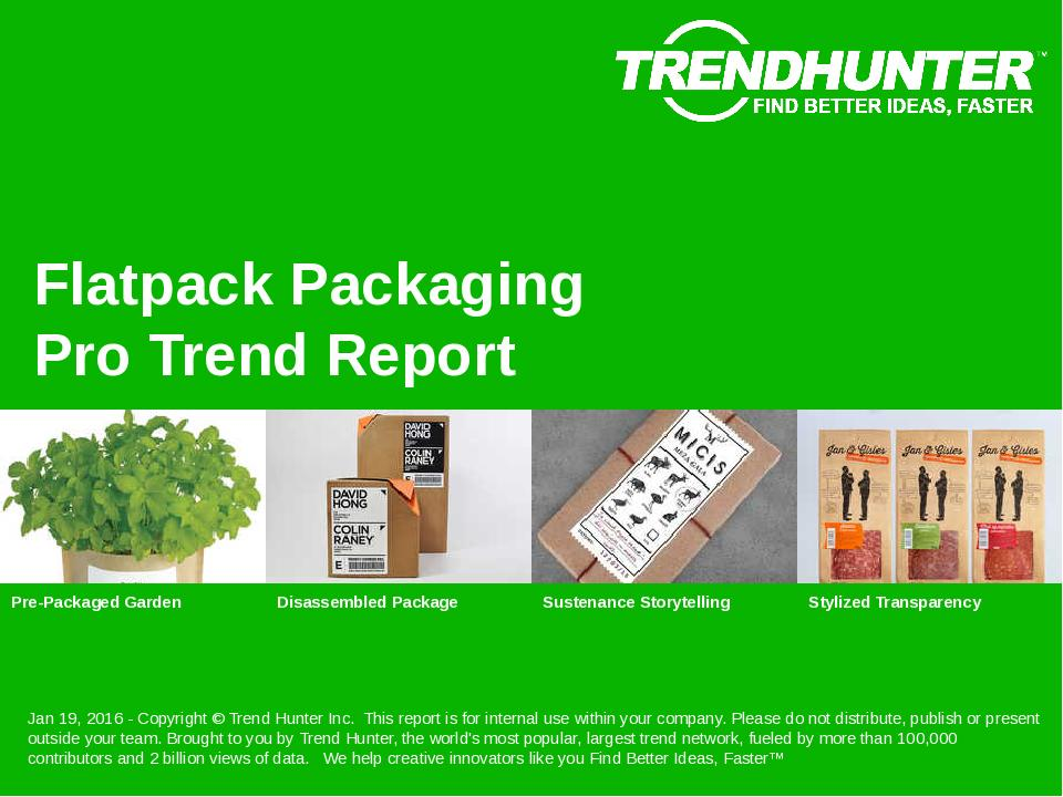 Flatpack Packaging Trend Report Research