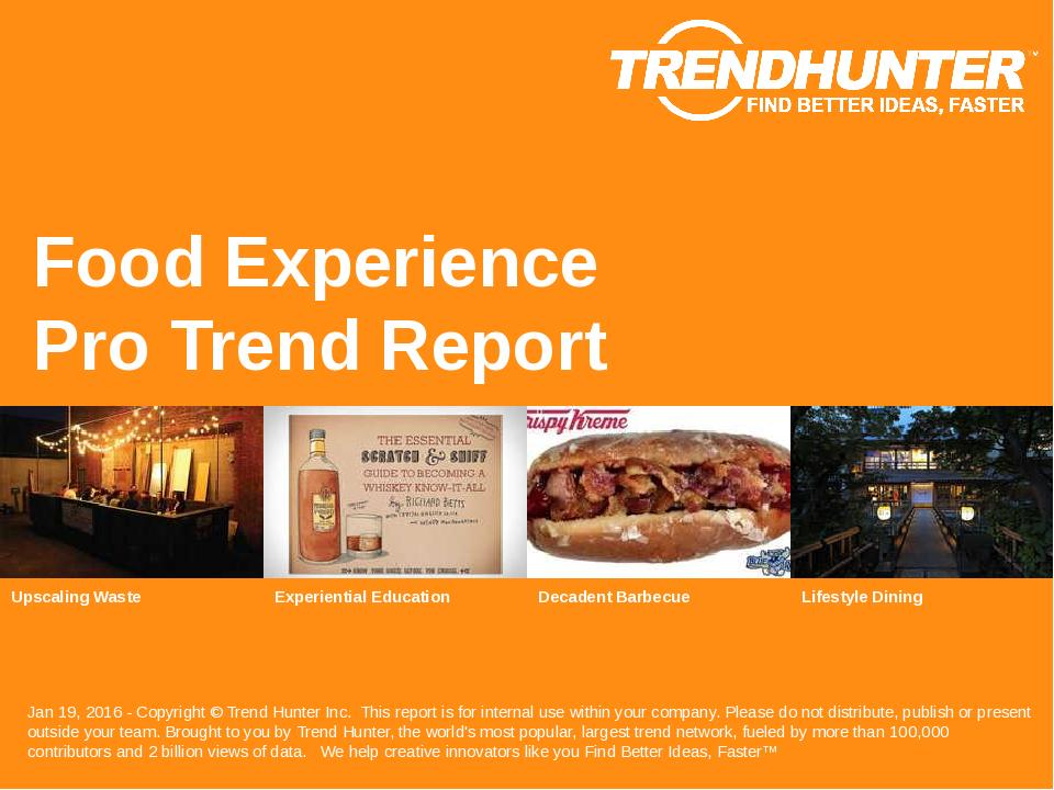 Food Experience Trend Report Research