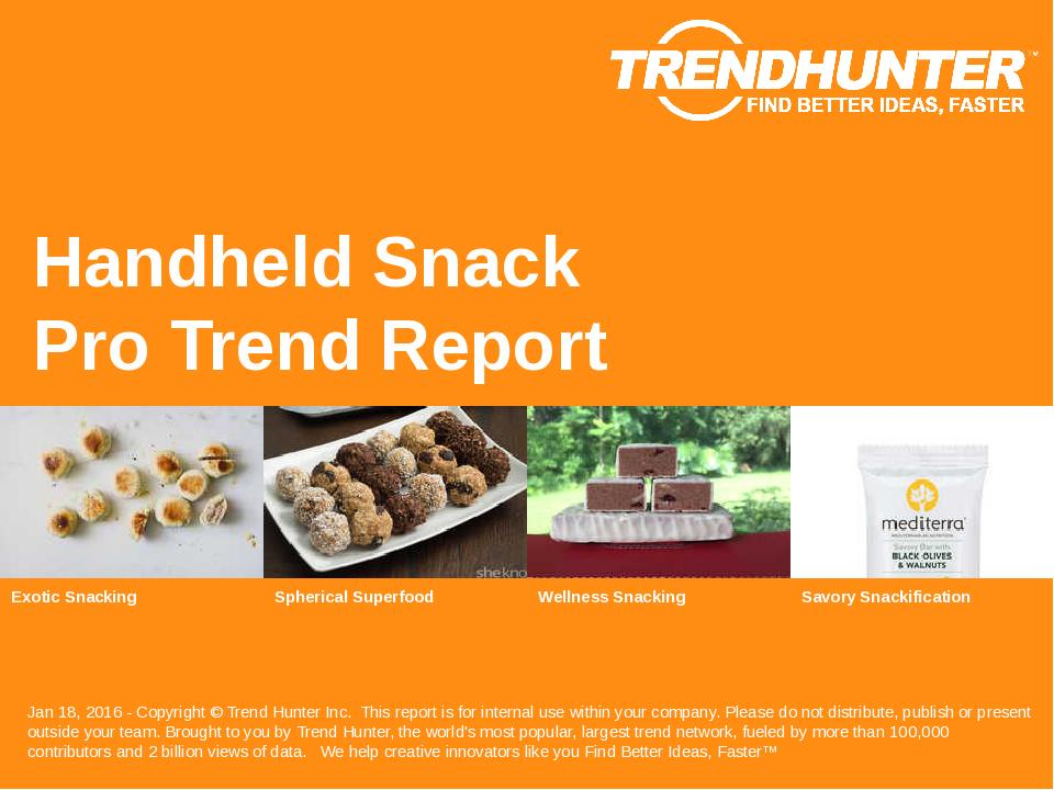 Handheld Snack Trend Report Research