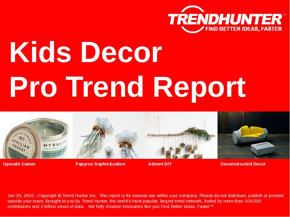 Kids Decor Trend Report Research