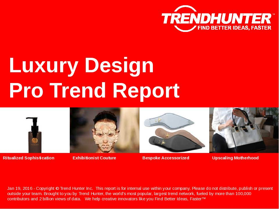 Luxury Design Trend Report Research