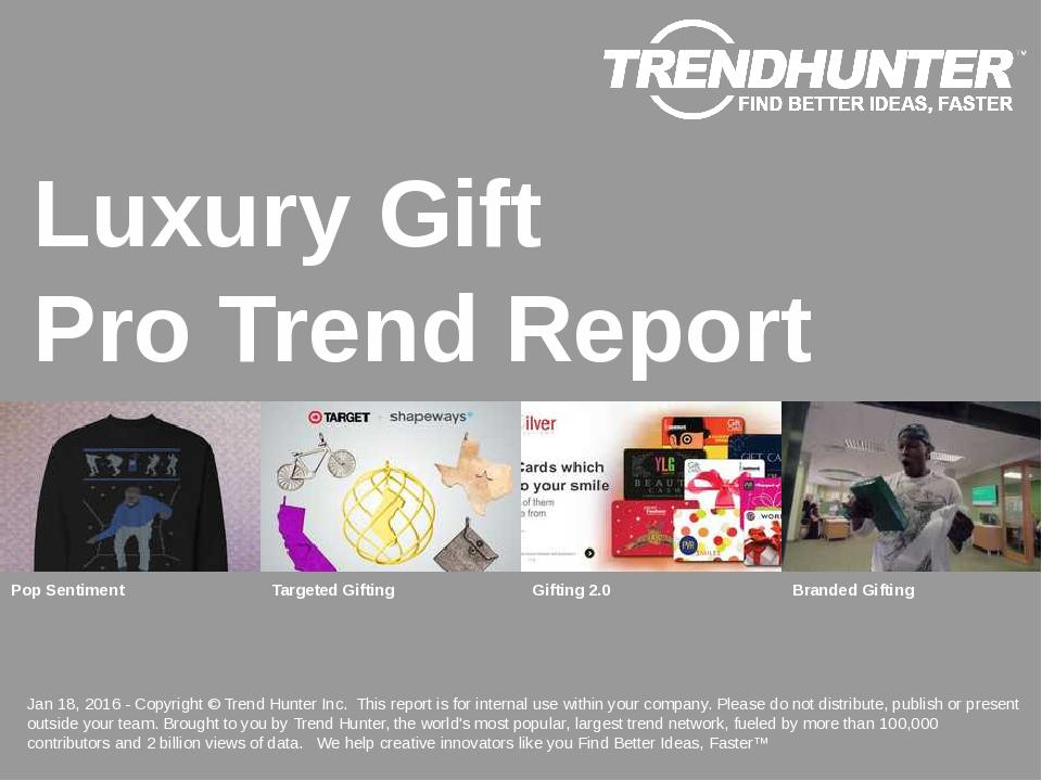 Luxury Gift Trend Report Research