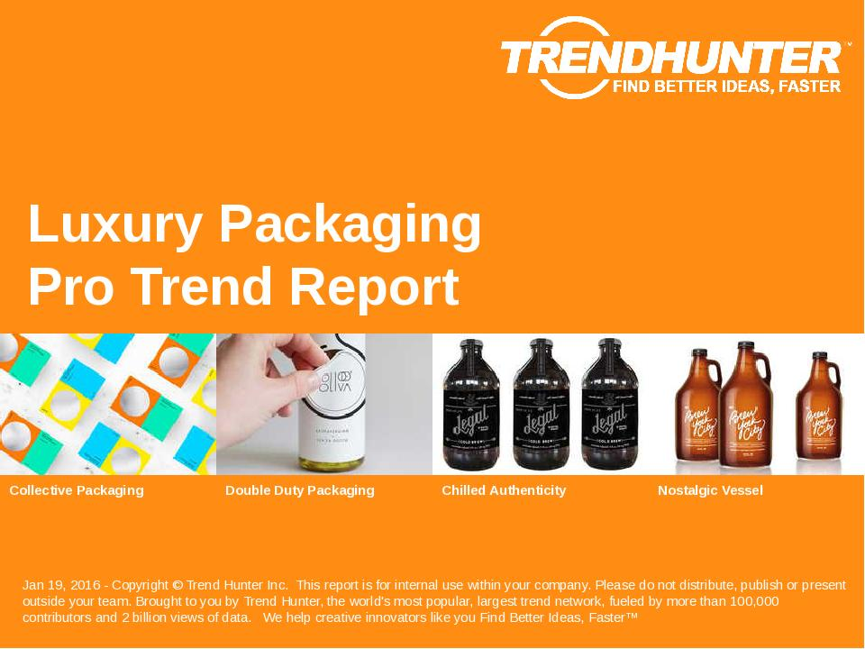 Luxury Packaging Trend Report Research