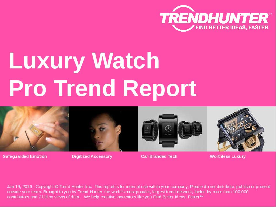 Luxury Watch Trend Report Research