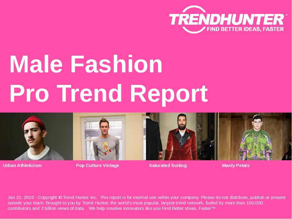 Male Fashion Trend Report Research