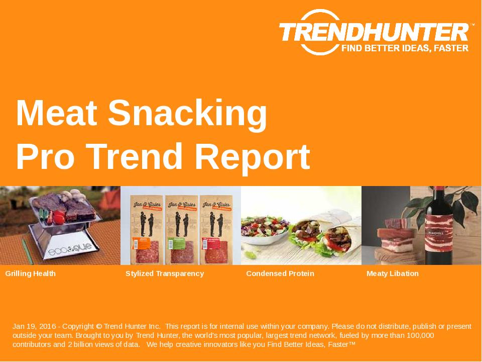 Meat Snacking Trend Report Research