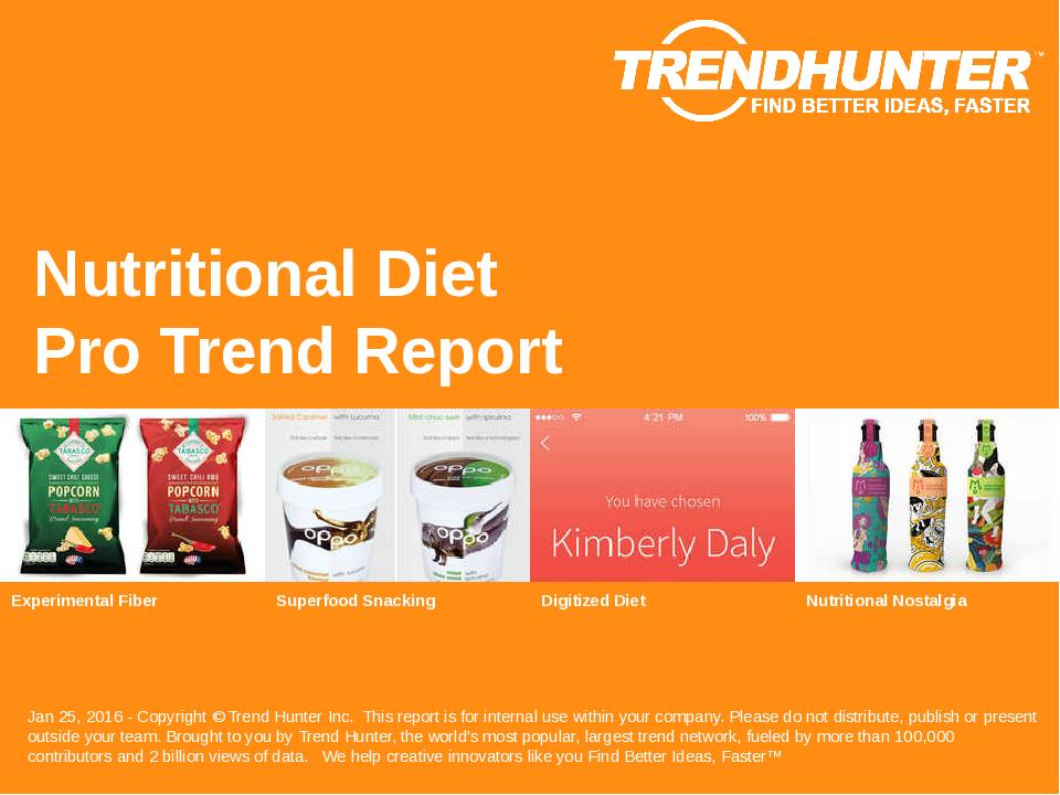 Nutritional Diet Trend Report Research