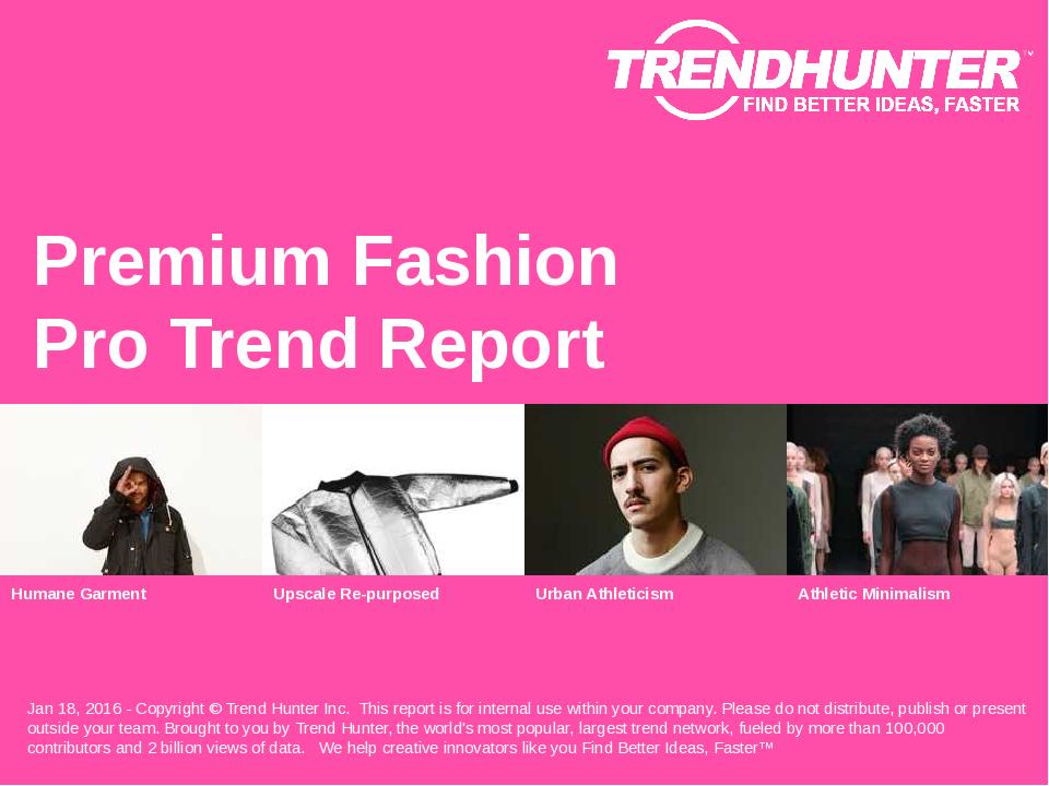 Premium Fashion Trend Report Research