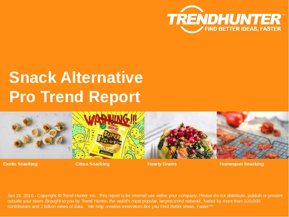 Snack Alternative Trend Report Research