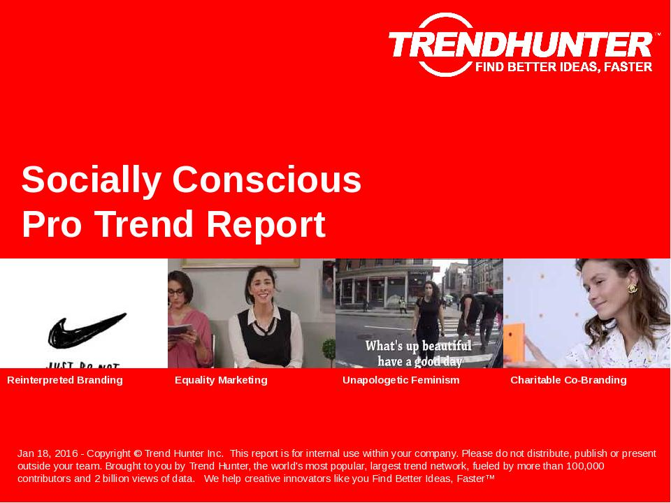 Socially Conscious Trend Report Research