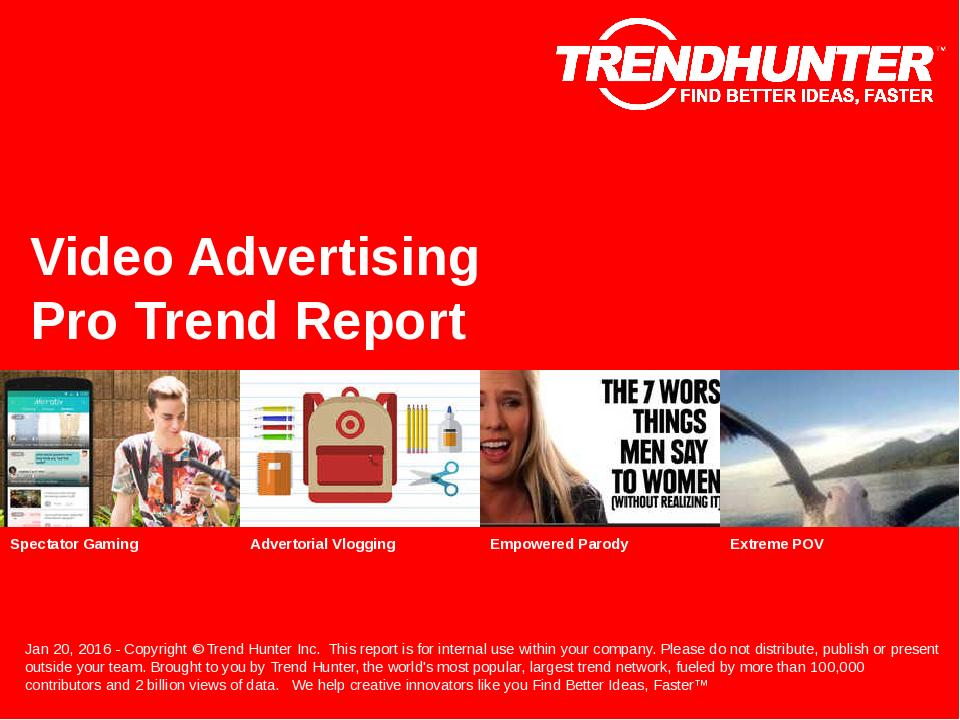 Video Advertising Trend Report Research