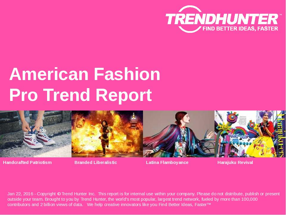 American Fashion Trend Report Research
