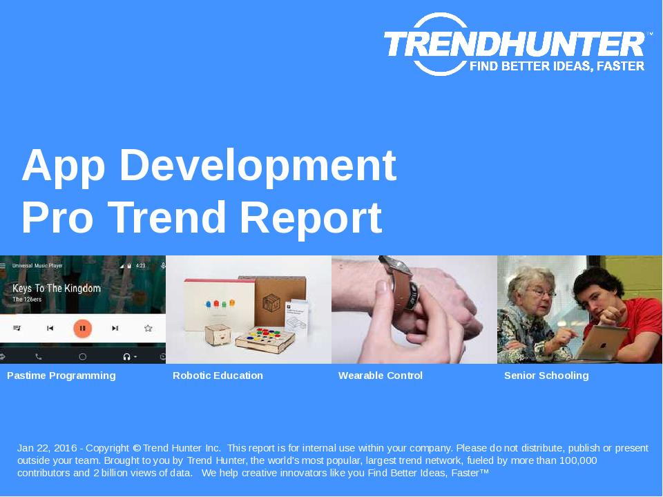 App Development Trend Report Research