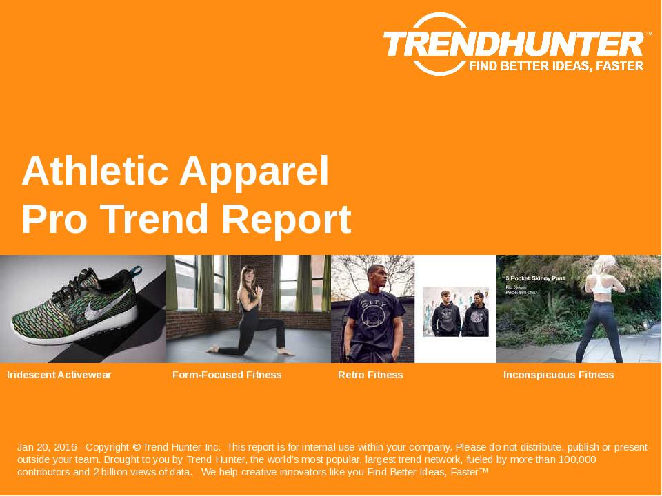 Athletic Apparel Trend Report Research
