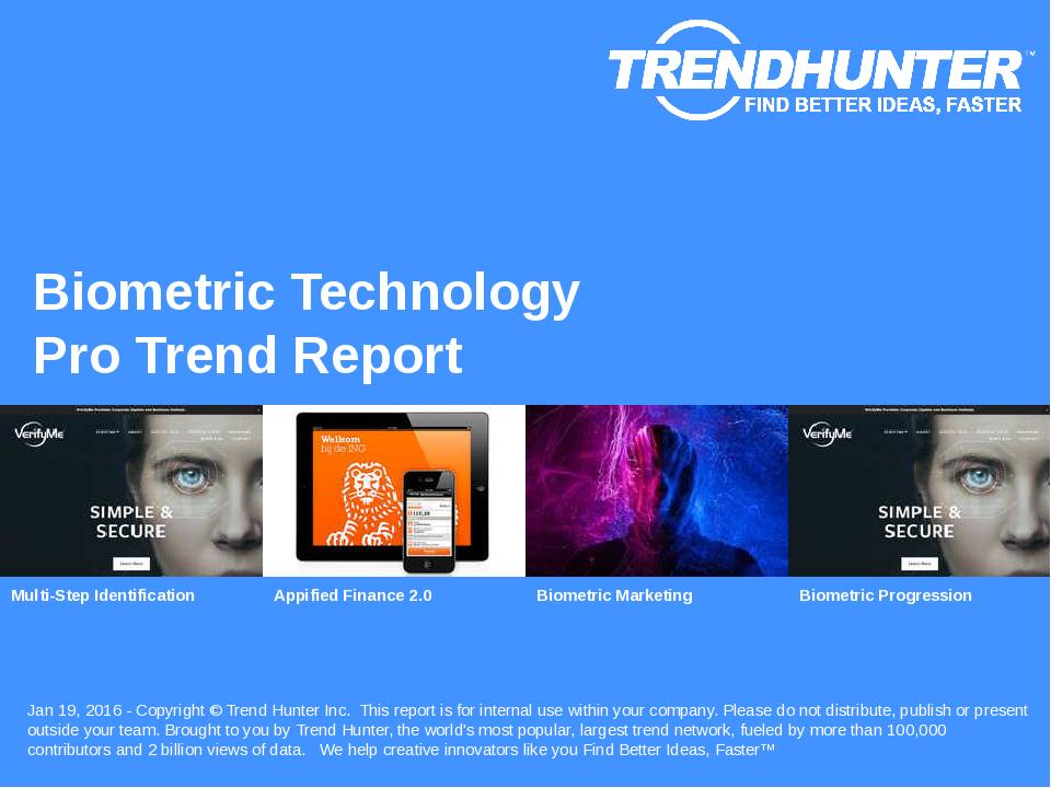 Biometric Technology Trend Report Research