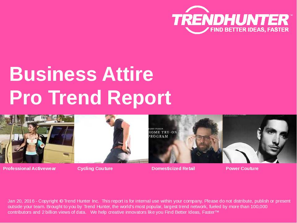 Business Attire Trend Report Research