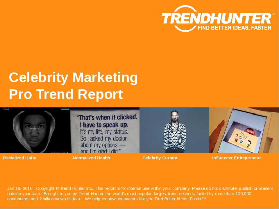 Celebrity Marketing Trend Report Research