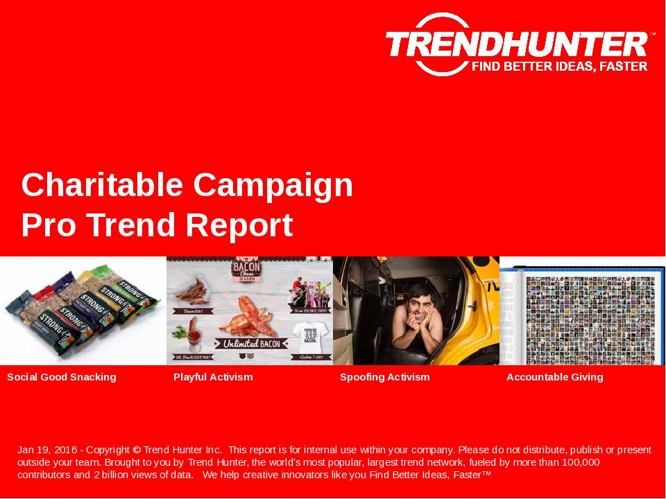 Charitable Campaign Trend Report Research