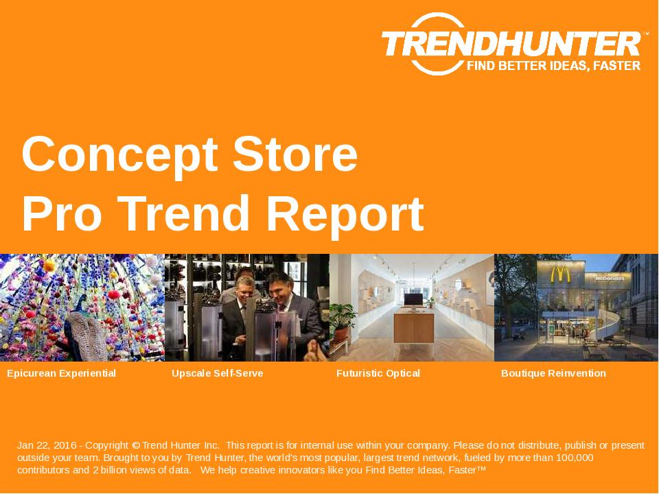 Concept Store Trend Report Research
