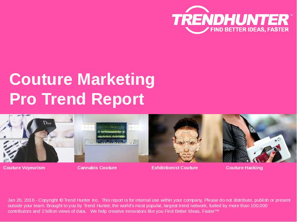 Couture Marketing Trend Report Research