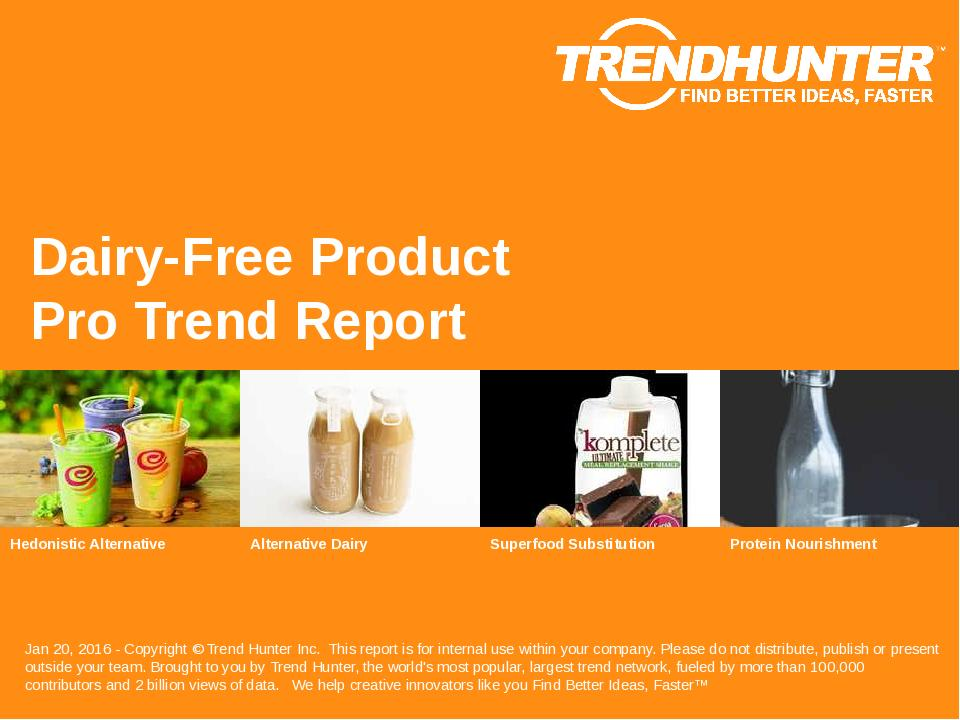 Dairy-Free Product Trend Report Research
