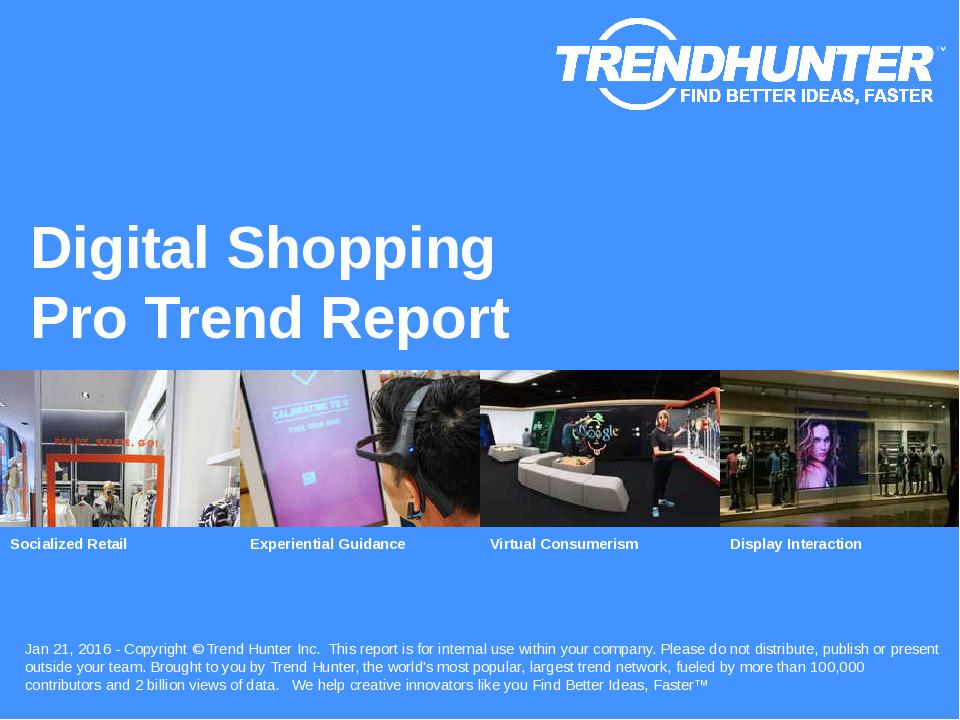 Digital Shopping Trend Report Research