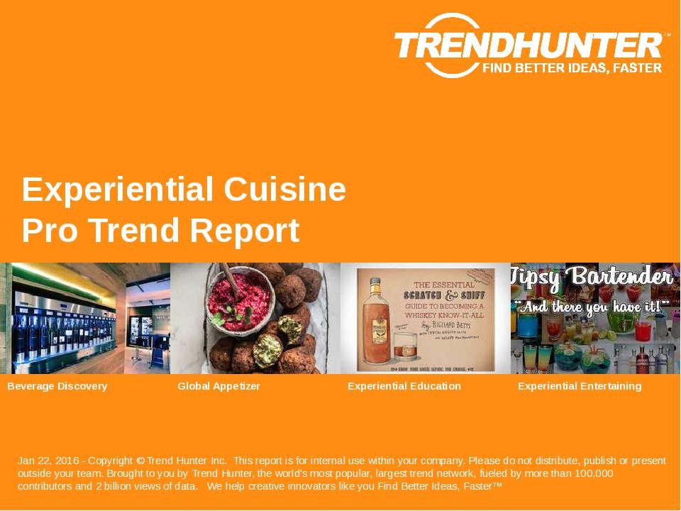 Experiential Cuisine Trend Report Research
