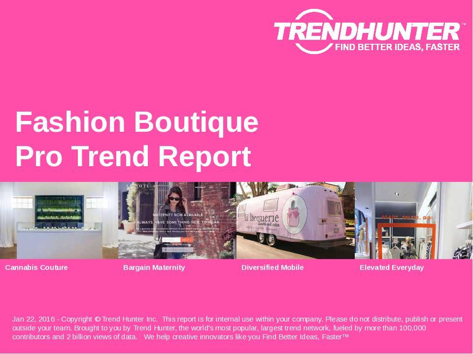 Fashion Boutique Trend Report Research