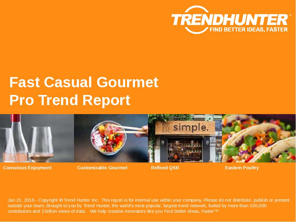 Fast Casual Gourmet Trend Report Research