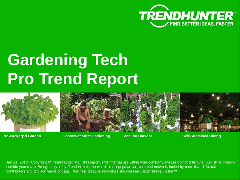 Gardening Tech Trend Report Research