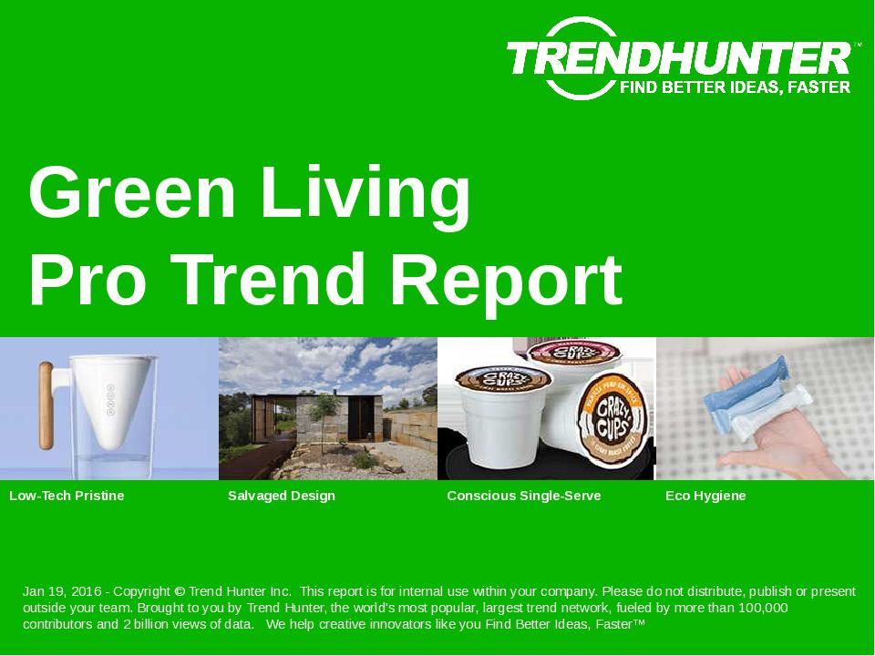 Green Living Trend Report Research