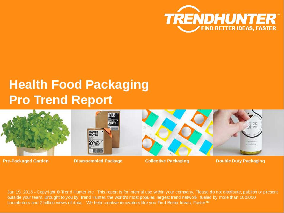Health Food Packaging Trend Report Research