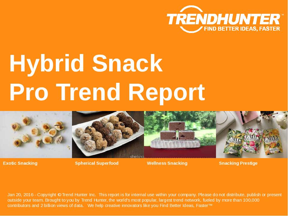 Hybrid Snack Trend Report Research