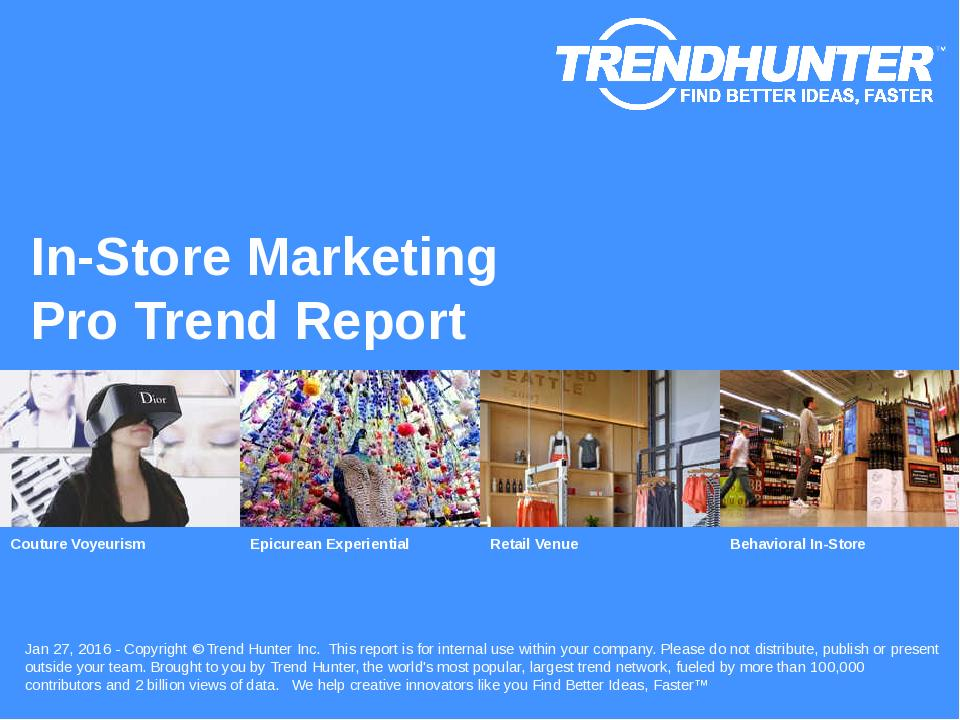 In-Store Marketing Trend Report Research