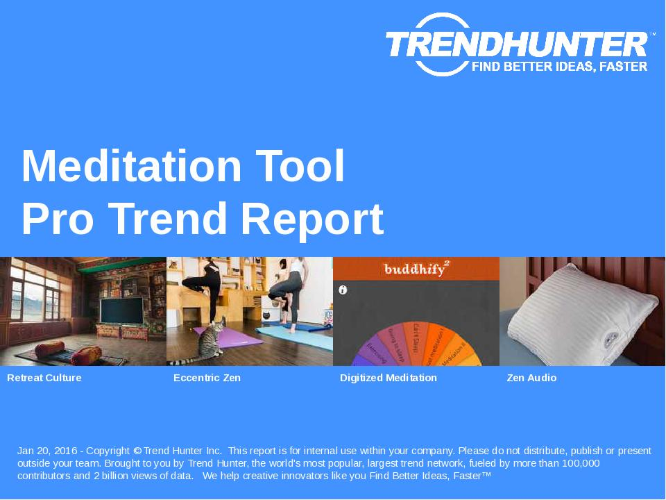 Meditation Tool Trend Report Research