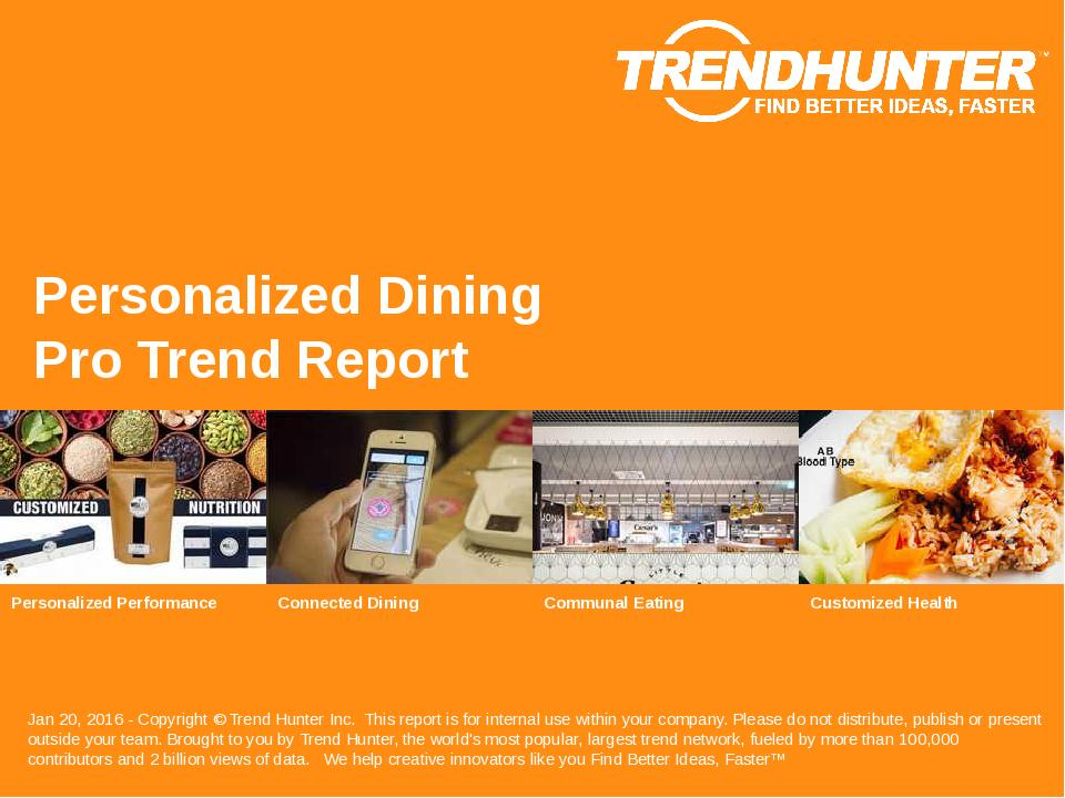 Personalized Dining Trend Report Research