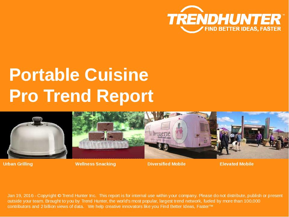 Portable Cuisine Trend Report Research