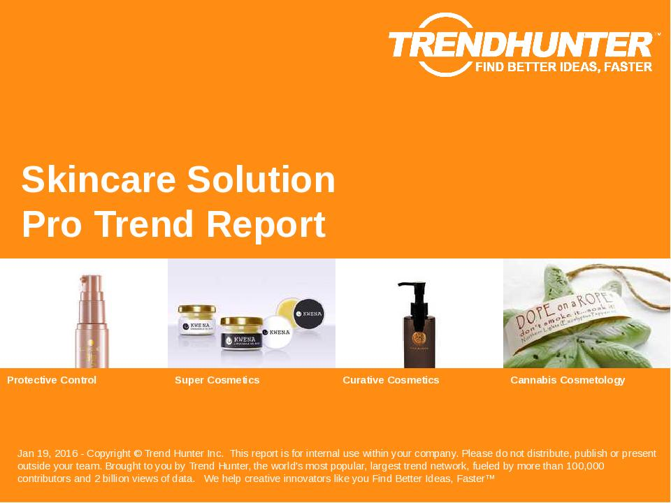 Skincare Solution Trend Report Research