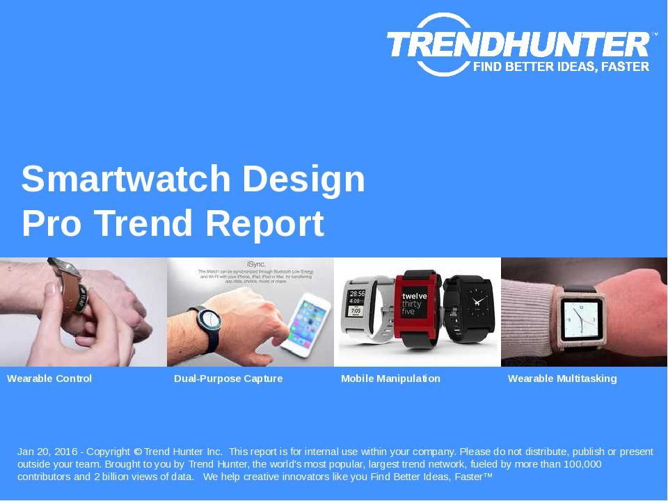 Smartwatch Design Trend Report Research